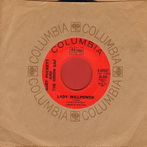 Puckett, Gary & The Union Gap - Lady Willpower/Daylight Stranger (with Columbia company sleeve) - VG7/ - 45 rpm Records