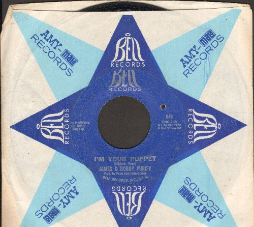 Purify, James & Bobby - I'm Your Puppet/So Many Reasons (with vintage Bell company sleeve) (bb) - VG7/ - 45 rpm Records
