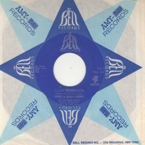 Purify, James & Bobby - I Can Remember/I Was Born To Lose Out (with company sleeve)(bb) - NM9/ - 45 rpm Records