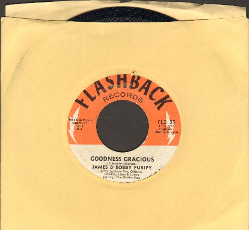 Purify, James & Bobby - Goodness Gracious/Shake A Tail feather (doubl-hit re-issue) - NM9/ - 45 rpm Records