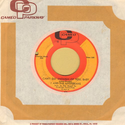 Question Mark & The Mysterians - Can't Get Enough Of You, Baby/Smokes (with Cameo-Parkway company sleeve, bb) - EX8/ - 45 rpm Records