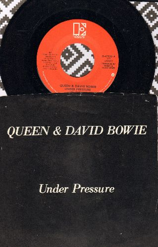Queen & David Bowie - Under Pressure/Soul Brother (with picture sleeve) - NM9/EX8 - 45 rpm Records