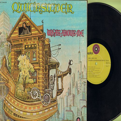 Quicksilver - What About Me: Local Color, Long Haired Lady, Good Old Rock And Roll, Call On Me, Subway (vinyl STEREO LP record, lime-green label gate-fold cover) - EX8/VG7 - LP Records