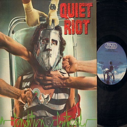Quiet Riot - Condition Critical: Party All Night, Scream And Shout, (We Were) Born To Rock, Winner Take All, Sign Of The Times (vinyl STEREO LP record) - EX8/NM9 - LP Records