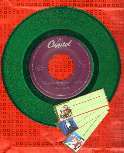 Squier, Billy - Christmas Is The Only Time To Say I Love You/Everybody Wants You (RARE$ green vinyl pressing) - NM9/ - 45 rpm Records