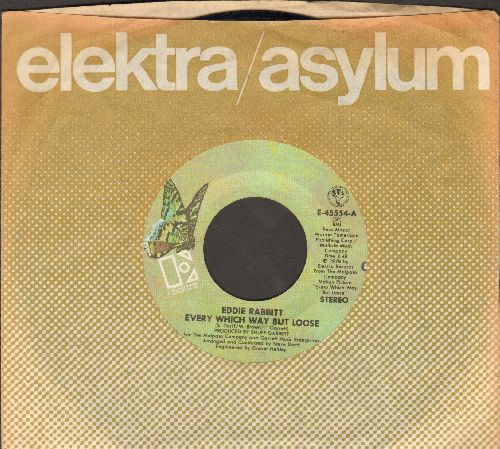 Rabbitt, Eddie - Every Which Way But Loose/Under The Double Eagle (with Elektra company sleeve) - EX8/ - 45 rpm Records
