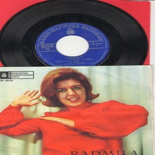 Radmila - Kolja/Crne Oci/Smesi Se Mesec/Ja Cu Te Pricekati (Yugoslav Pressing with picture sleeve) - NM9/EX8 - 45 rpm Records