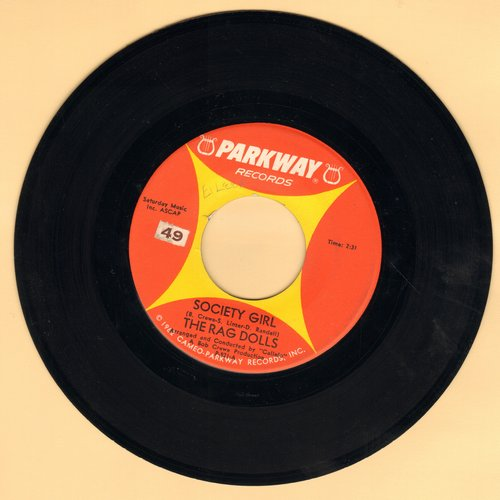 Rag Dolls - Society Girl/Ragen (Society Girl Bossa Nova by Ragen on flip-side) - NM9/ - 45 rpm Records