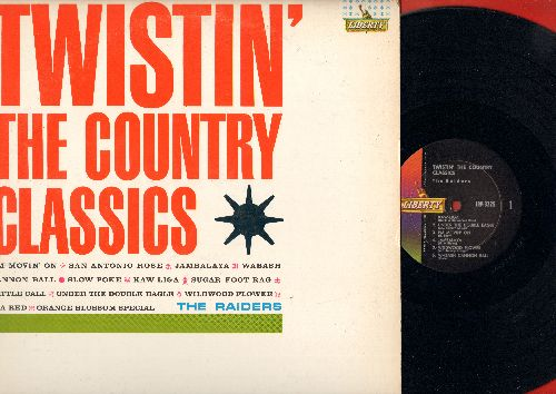 Raiders - Twistin' The Country Classics: Jambalaya, San Antonio Rose, Slow Poke, Wildwood Flower, Sugar Foot Rag, Cattle Call, I'm Movin' On (vinyl MONO LP record) - M10/NM9 - LP Records