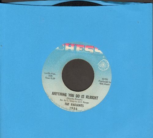 Radiants - Anything You Do Is Alright/(Don't It Make You) Feel Kind Of Bad (FANTASTIC Upbeat R&B 2-sider!) - EX8/ - 45 rpm Records