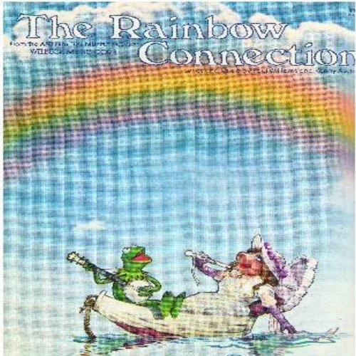Kermit E. Frog - Rainbow Connection - SHEET MUSIC for the Academy Award Nominated Song from -The Muppet Movie- NICE Cover Art with Kermit and Miss Piggy! (This is SHEET MUSIC, not any other kind of media!) - NM9/ - Sheet Music