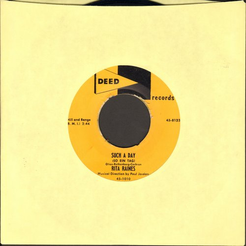Raines, Rita - Such A Day (So ein Tag)/Ol' Devil Moon - NM9/ - 45 rpm Records