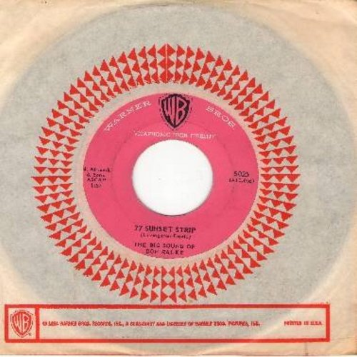 Ralke, Don - 77 Sunset Strip/Sebastian (with vintage Warner Brothers company sleeve) - EX8/ - 45 rpm Records