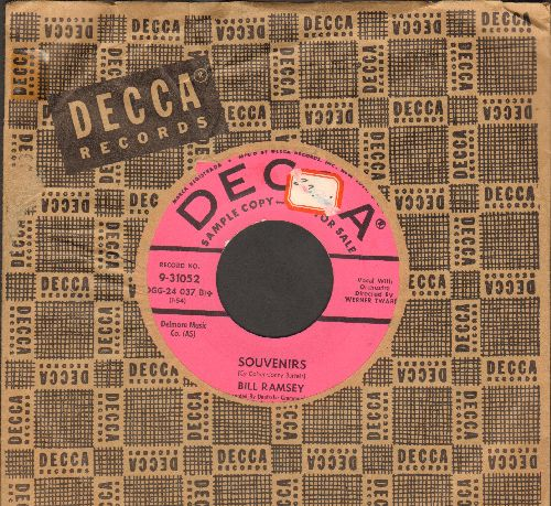 Ramsey, Bill - Souvenirs/Go, Man, Go (DJ advance pressing, US pressing sung in German, with vintage Decca company sleeve) - NM9/ - 45 rpm Records