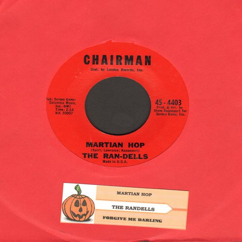 Ran-Dells - Martian Hop (Halloween Party Favorite!)/Forgive Me Darling (I Have Lied) (with juke box label!) - NM9/ - 45 rpm Records