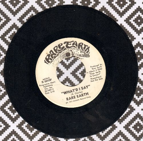 Rare Earth - What's I Say (double-A-sided DJ advance pressing) - VG7/ - 45 rpm Records