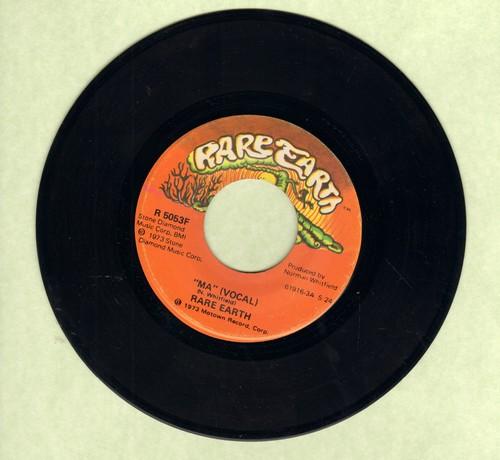 Rare Earth - Ma (Vocal)/Ma (Instrumental) - EX8/ - 45 rpm Records