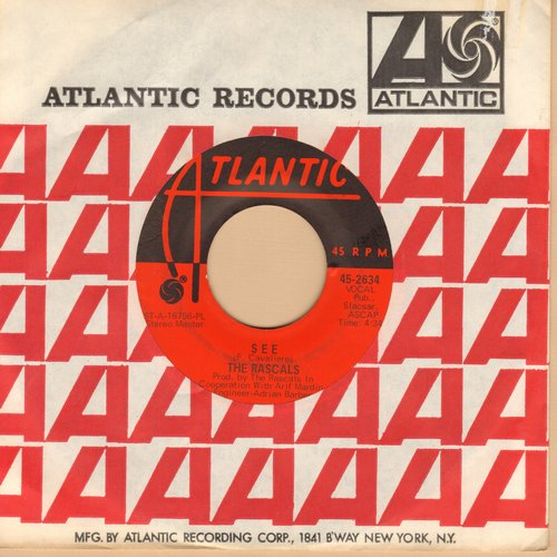 Rascals - See/Away Away (with Atlantic company sleeve) - NM9/ - 45 rpm Records