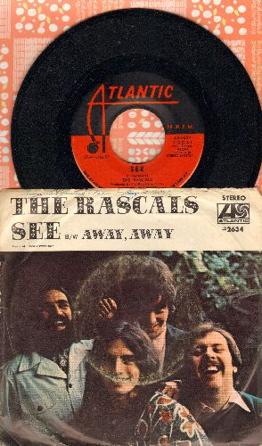 Rascals - See/Away Away (with picture sleeve) - NM9/ - 45 rpm Records