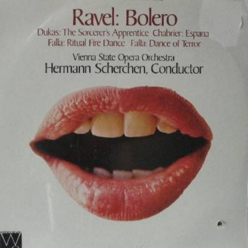 Ravel - Bolero and other historic recordings - Ravel conducts the Lamoureux Orchestra -- full-length versions of 4 classic music pieces (vinyl LP record) - M10/NM9 - LP Records