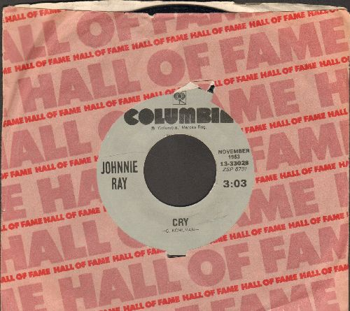 Ray, Johnnie - Cry/The Little White Cloud That Cried (re-issue with Columbia company sleeve)  - NM9/ - 45 rpm Records