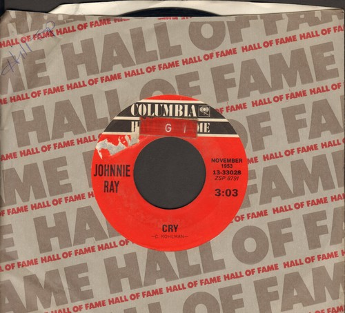 Ray, Johnnie - Cry/The Little White Cloud That Cried (re-issue with Columbia company sleeve) (sol) - EX8/ - 45 rpm Records