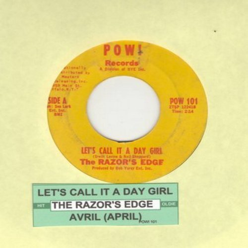 Razor's Edge - Let's Call It A Day Girl/Avril (April) (with juke box label) - VG7/ - 45 rpm Records