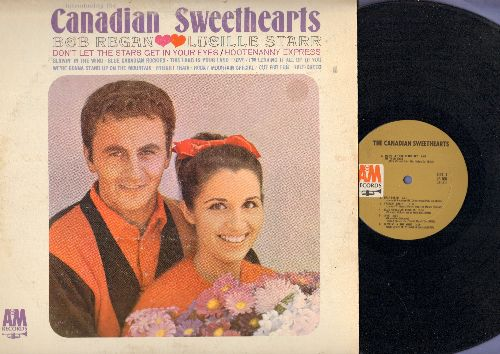 Regan, Bob & Lucille Starr - Canadian Sweethearts: Blowing In The Wind, This Land Is Your Land, I'm Leaving It All Up To You, Half-Breed (vinyl MONO LP record) - NM9/VG7 - LP Records