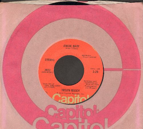 Reddy, Helen - Angie Baby/I Think I'll Write A Song (with Capitol company sleeve) - EX8/ - 45 rpm Records