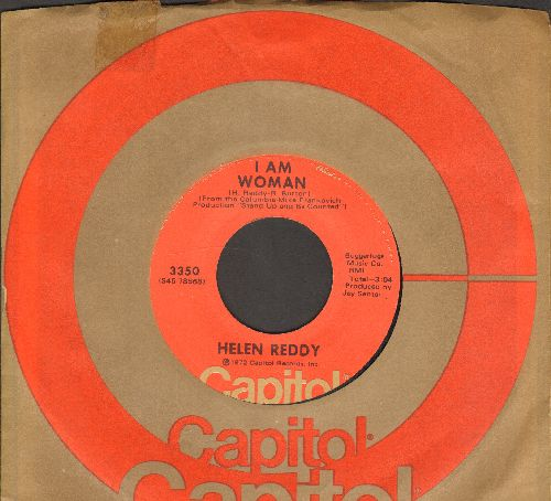 Reddy, Helen - I Am Woman/More Than You Could Take (with Capitol company sleeve) - NM9/ - 45 rpm Records