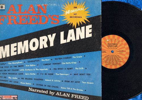 Freed, Alan - Alan Freed's Memory Lane: Sincerely, Tears On My Pillow, Eddie My Love, Goodnight My Love (vinyl MONO LP record, 1970s issue of vintage recordings) - EX8/VG7 - LP Records