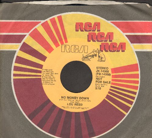 Reed, Lou - No Money Dolwn (double-A-sided DJ advance pressing) - M10/ - 45 rpm Records