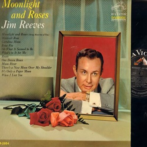 Reeves, Jim - Moonlight And Roses: Moon River, It's Only A Paper Moon, Caolina Moon, Rosa Rio (vinyl MONO LP record, NICE condition!) - M10/NM9 - LP Records