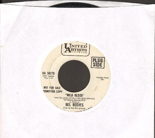 Reeves, Del - Wild Blood/Lest We Forget (DJ advance pressing) - NM9/ - 45 rpm Records