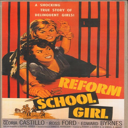 Reform School Girl - Movie Poster - Reform School Girl - Full Color 16 x 10.5 inch reproduced Movie Poster of the 1950s Cult Film - GREAT for framing!  - NM9/ - Poster