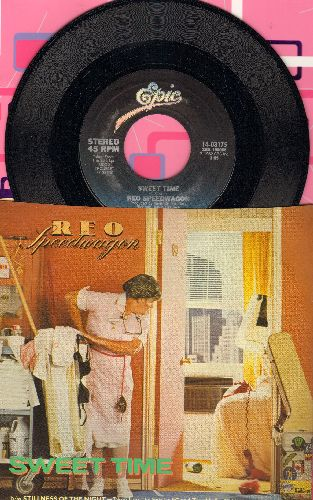 REO Speedwagon - Sweet Time/Stillness Of The Night (with picture sleeve) - NM9/NM9 - 45 rpm Records