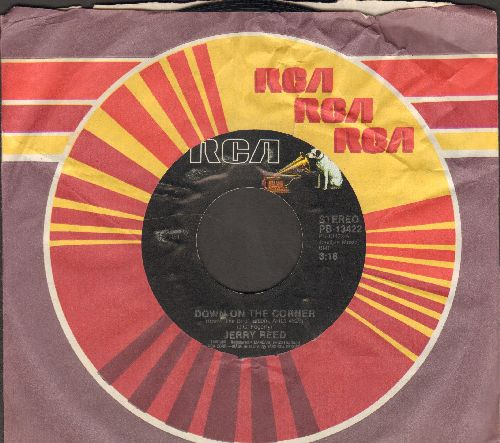 Reed, Jerry - Down On The Corner/Hard Times (with RCA company sleeve) - NM9/ - 45 rpm Records