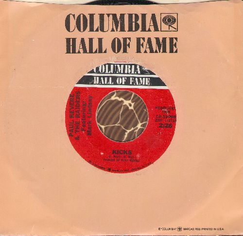 Revere, Paul & The Raiders - Kicks/Just Like Me (double-hit re-issue with Columbia company sleeve) - NM9/ - 45 rpm Records