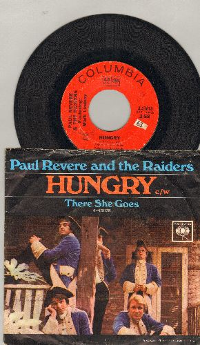 Revere, Paul & The Raiders - Hungry/There She Goes (with picture sleeve) - VG7/VG7 - 45 rpm Records