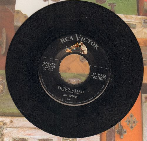 Reeves, Jim - Young Hearts/Two Shadows On Your Window - EX8/ - 45 rpm Records