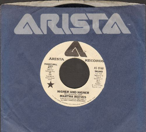 Reeves, Martha - Higher And Higher (double-A-sided DJ advance pressing with MONO and STEREO version, with Arista company sleeve)(minor wol) - NM9/ - 45 rpm Records