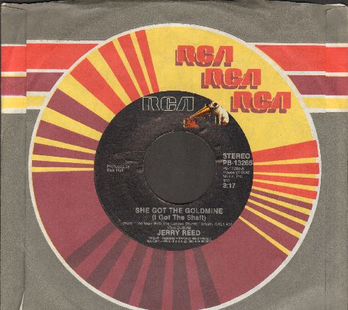 Reed, Jerry - She Got The Goldmine (I Got The Shaft)/44 (with RCA company sleeve) - EX8/ - 45 rpm Records