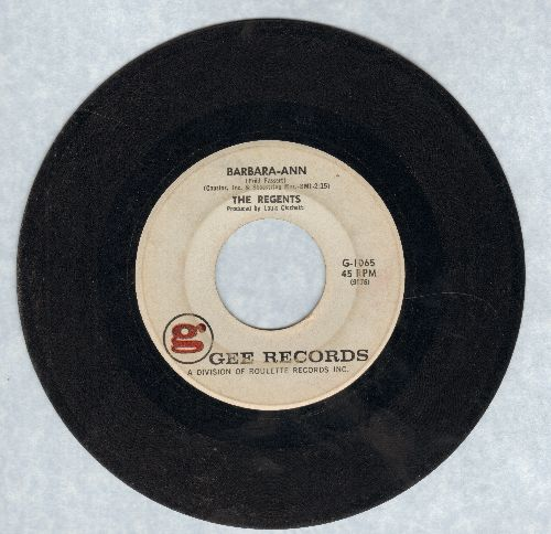 Regents - Barbara-Ann/I'm So Lonely  - VG7/ - 45 rpm Records