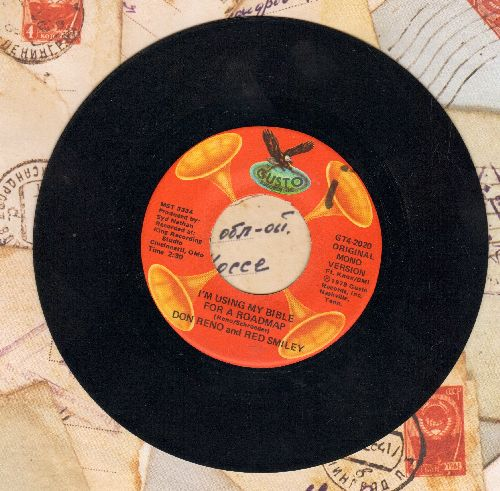 Reno, Don, Red Smiley  - I'm Using My Bible For A Roadmap/Someone Will Love Me In Heaven (double-hit re-issue) - NM9/ - 45 rpm Records