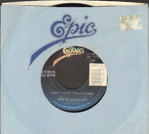 REO Speedwagon - Can't Fight The Feeling/Break His Spell (with Epic company sleeve) - NM9/ - 45 rpm Records