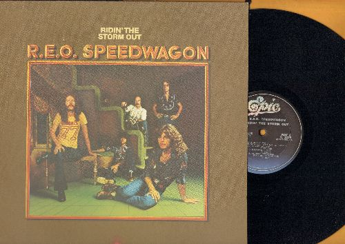 REO Speedwagon - Ridin' The Storm Out: Whiskey Night, Open Up, Movin', Son Of A Poor Man, Find My Fortune (vinyl STEREO LP record, 1980s pressing of vintage recordings) - NM9/NM9 - LP Records