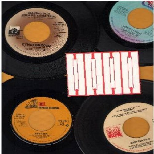 Pratt & McClain, Cyndi Grecco, Sammy Davis Jr., Gary Portnoy - 70s TV Themes 4-Pack: 4 original first issue 45rpm records, all in very good or better condition, with 4 blank juke box labels. Hits include Happy Days, Making Our Dreams Come True (Theme from