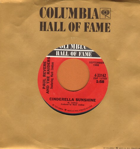 Revere, Paul & The Raiders - Cinderella Sunshine/Mr. Sun, Mr. Moon (double-hit re-issue with Columbia company sleeve) - NM9/ - 45 rpm Records