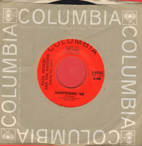 Revere, Paul & The Raiders - Happening '68/Too Much Talk - NM9/ - 45 rpm Records