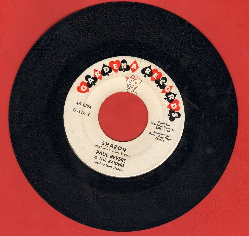 Revere, Paul & The Raiders - Sharon/Like Long, Log Hair (RARE early issue)  - G5/ - 45 rpm Records